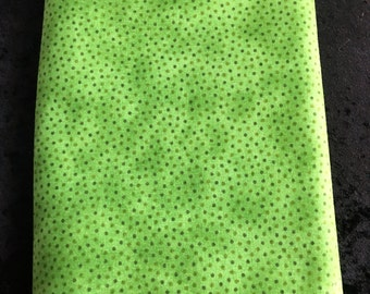 M000009 Bright Olive Green and Spots Fabric