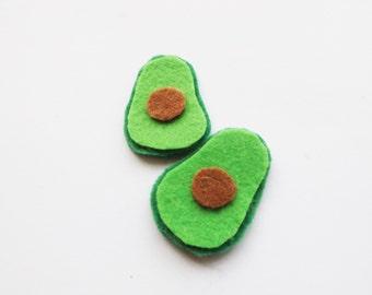 Felt Avocado Earrings
