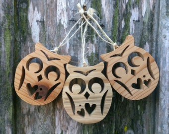 Christmas Tree Ornaments - Two-Heart Owlies