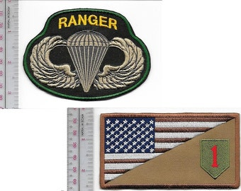 Ranger US Army 1st Infantry Division & Airborne Parachutist Wings