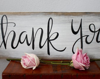 Thank You Sign - wedding, rustic wedding, rustic wedding decor, wedding decor, wedding sign, custom wood sign, rustic wood sign