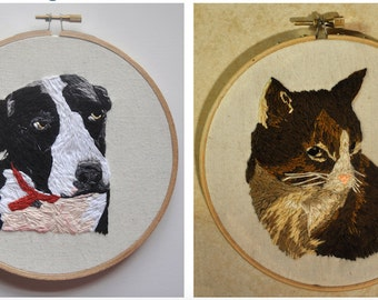Hand Embroidered PET PORTRAIT