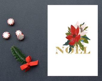 Noel,Christmas, Christmas Decoration,Holiday, 8x10, Instant Download, Printable artwork, Digital Art, Printable Wall Art