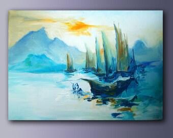 Sea. Ships. Abstraction.