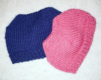 2 Baby knitted cap/skully/hat