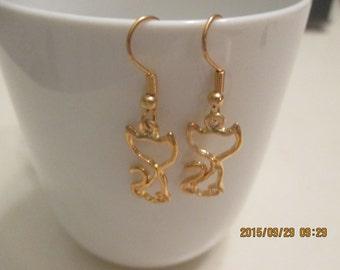 Kitty dangle  earrings