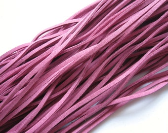 5 metres thick art suede band Pink