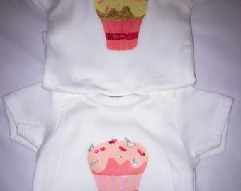 Cupcake 2 pk Onesie Set