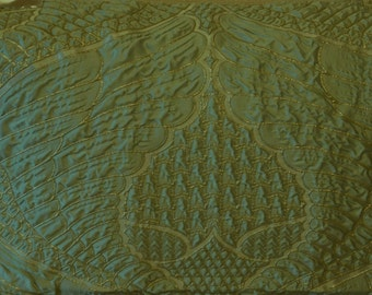 BEACON HILL WINGED Victory Animale Silk Fabric 5 Yards Surf