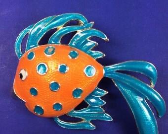 Goldfish Brooch / Pendant