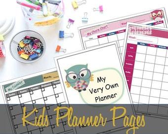 Kid's Planner - My Very Own Planner Printables - Kid's Organizer, Child Organizer, Child Planner - INSTANT DOWNLOAD