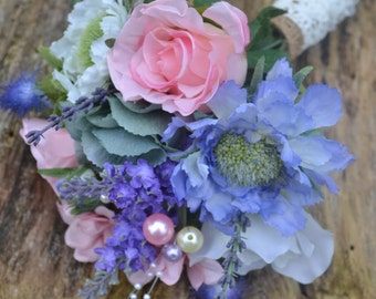 Bridesmaid Posy bouquet.lilac,pink,ivory.