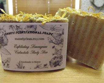 Exfoliating Lemongrass Calendula Body Bar