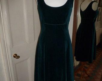 Fantastic dark green velvet Monsoon Twilight 50's style dress, size 12.  50's, Mad Men, Gothic, Steampunk