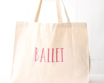 Canvas Tote Bag: Ballet