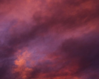 Cloud study 1 sunset photo print