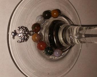 Earthy Tree Wine Charm