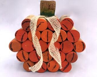Wine Cork Pumpkin and Custom Cork Creations