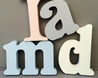 20cm letters~wooden letters~free standing letters~wall hanging letters~nursery decor~baby shower decor~home decor letters~