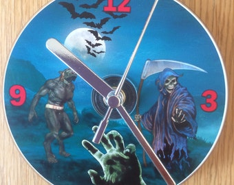 HORROR CD CLOCK (Can be Personalised)