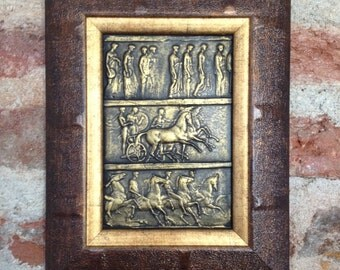 SALE 22% Off,Bronze Bas Relief Wall,Ansient Décor,Replica Ancient Antique Bas Relief,Art Relief Painting,Ancient Replica,Gift Paintings,Gift