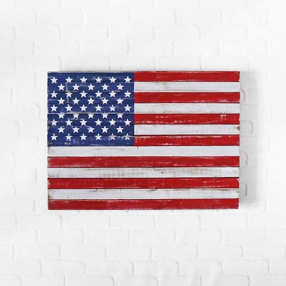 American flag american flag wall art wood flag by American flag wood wall art