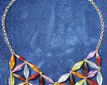 Bib necklace with matching bracelet