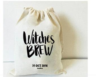 Witches brew favor bag - Halloween bag - Halloween favor - Halloween party - Halloween invitation - Trick or treat bag - Halloween gift