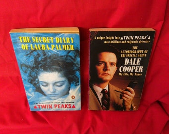 Twin Peaks. Laura Palmer and Dale Cooper diaries. David Lynch. Rare. OOP. 1990s first edition paperbacks