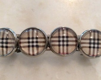 Barrettes  / set of 2 / Plaid