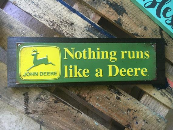 John Deere Wall Decor Plaques Signs : John deer tin wood decor sign