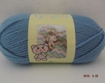 Bernat-Giggles Yarn- Darling Denim -100-Grams -3.5-oz- 185-yards-#4 Worsted Weight