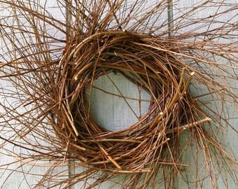 Twig Wreath - Primitive Wreath - Dried Mulberry Twig Wreath - Fall Wreath - Farmhouse - Yearround Wreath