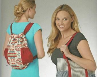 Simplicity 1190 Tote Bag and Drawstring Backpack