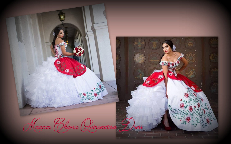 mexican wedding dress mexican wedding dress Mexican quincea era Charra Inspired Quincea era Luxurious Bow Multilayered Mexican Quinceanera Dress Quince Dress Vestido Mexicano