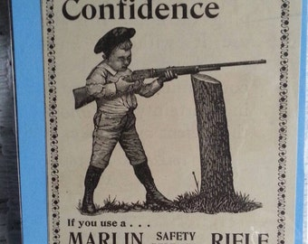 Original 1897 Marlin Safety Repeating Rifle Magazine Ad