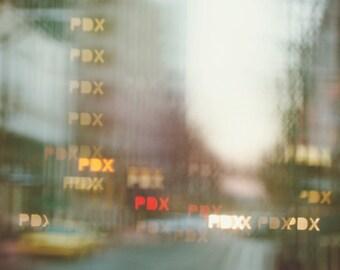 Portland Oregon Print, Downtown Portland Photo, Pdx print, Abstract Photography, street photography, 8x12 print, Bokeh, Blurry lights