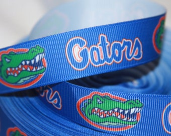 Florida Gators inspired Grosgrain Ribbon 7/8""