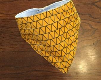 Bandana Bib , yellow/gray bandana bib