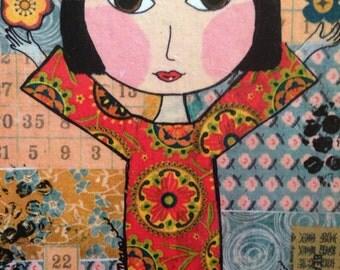 Art Block, Asian. Mixed media