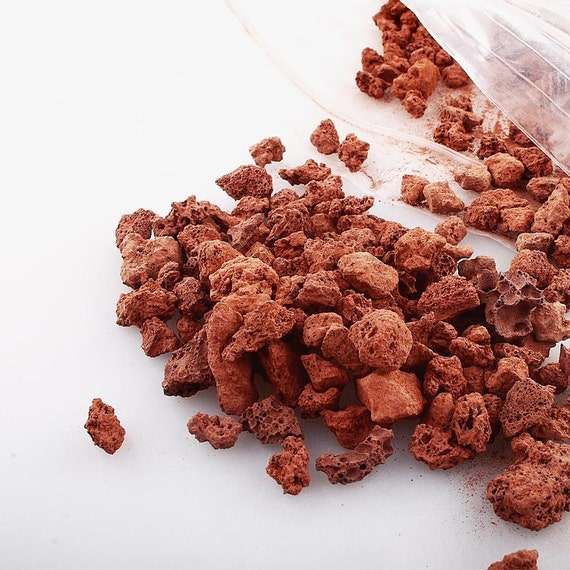 Red Pumice Stone : Red lava rocksnatural little volcanic pumice for succulent