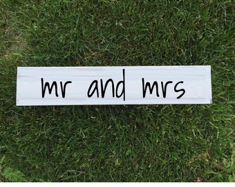 mr and mrs wood sign mr and mrs sign wood sign mrs and mrs wood sign rustic wood sign white wood sign wedding decor home decor wood decor