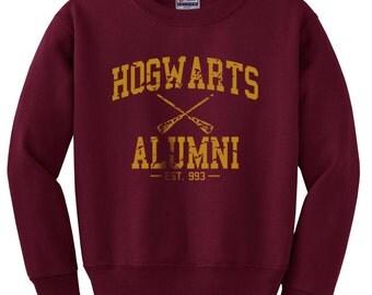Hogwarts Alumni Dark Yellow print on Crew neck Sweatshirt