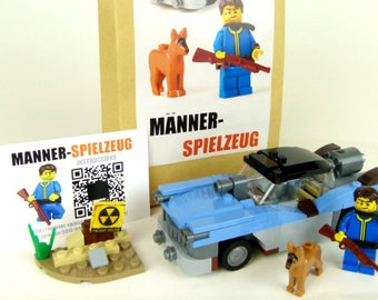 Custom Set of LEGO Elements inspired by Fallout (MOC) Highwayman Chevrolet / Plymouth with Vault Dweller