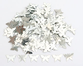 Silver Butterflies - Wedding Table Confetti