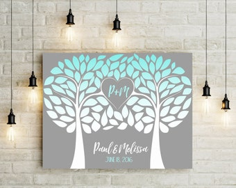 Canvas Wedding Guestbook Alternatives - Wedding Guestbook Tree - Wedding Guest Book - Wedding Tree - Guestbook Alternative - Wedding Canvas