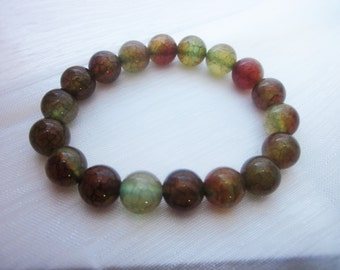 Lovely Dragon Agate, Beaded Bracelet, 7.5 inches