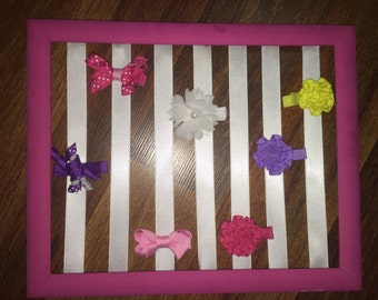 Baby Bow Holders, baby girl nursery, nursery decoration, baby bow organizer, custom bow holder, hair bow organizer, baby girl hair,Baby Girl