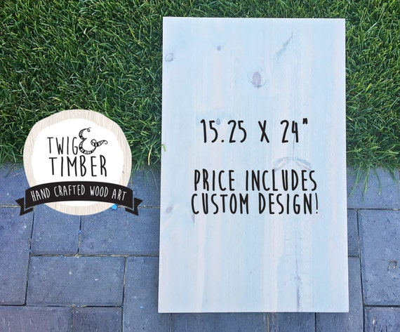Custom Designed Wooden Sign! CUSTOM DESIGN INCLUDED in Cost! Pick your stain and colors! Great Gift Opportunity!