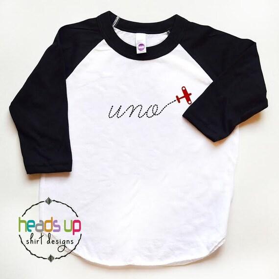 Uno Shirt Airplane 1st Birthday Uno Tshirt First Birthday